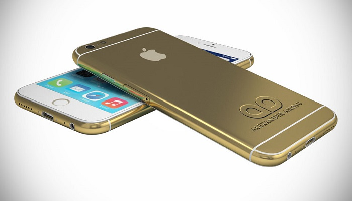 Amosu 24ct Altın iPhone 6