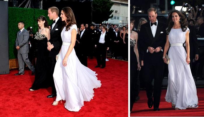 BAFTA İngilizler Gösterisi Sırasında Giydiği Elbise