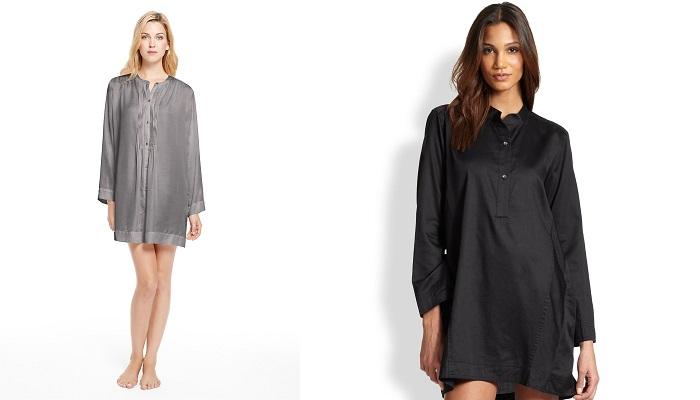 Donna Karan Glamour İpek Uyku Gömleği
