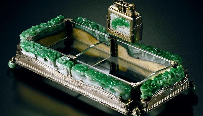 Gümüş Jadeite Küllük ve Çakmak