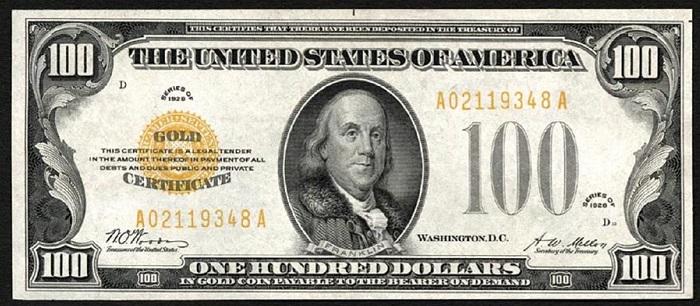Şimdiye Kadar Üretilen En Değerli Para 100.000 Dolar Altın Sertifikası Oldu