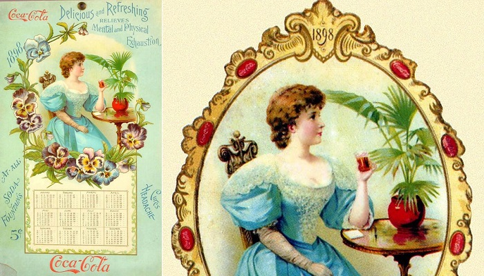 1898 Coca Cola Takvimi