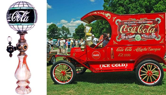 1915 Coca Cola Küre Şeklinde Gazlı İçecek Dağıtım Aracı