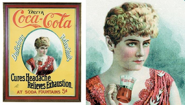Coca Cola Cameo Paper Sign