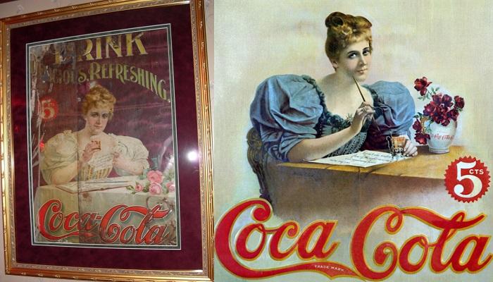 Coca Cola Tin Sidewalk Sign
