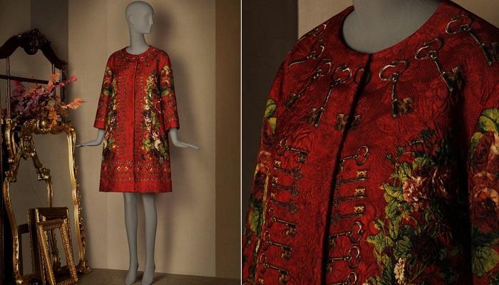 Dolce&Gabbana Anahtar ve Çiçek Baskılı Kimono Ceketi