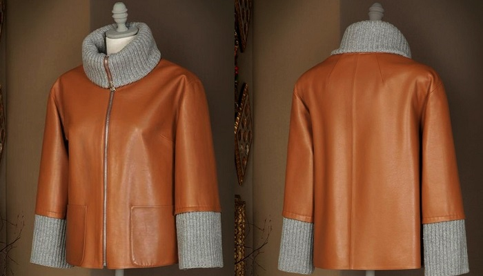 Dolce&Gabbana Kaşmir ve Deri Ceket