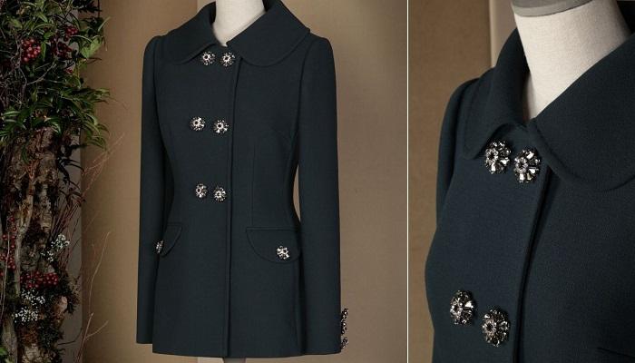Dolce&Gabbana Mücevher Düğmeli Denizci Paltosu