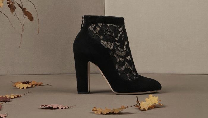 Dolce&Gabbana Suede Cut-Out Vally Yarım Bot