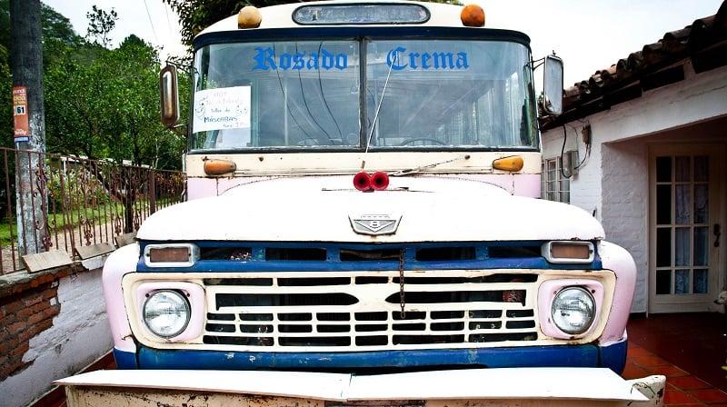 Escobar'ın kullanmış olduğu halk otobüsü