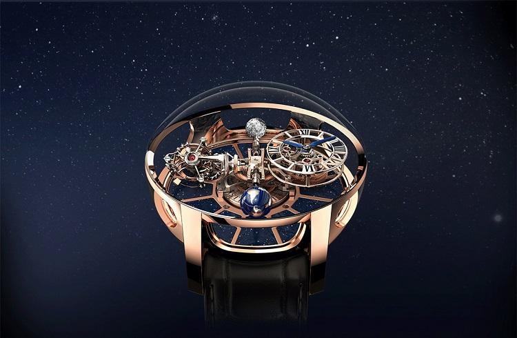 """Evrenin Işıltılarını Taşıyan Saat: """"Astronomia Tourbillon Baguette"""""""