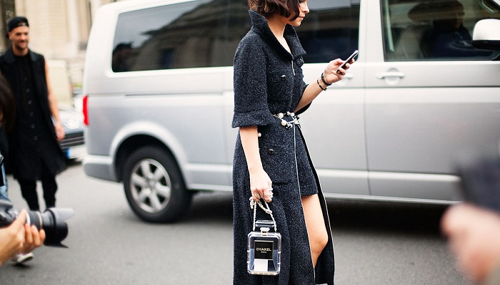 Chanel Parfüm Şişesi Çanta