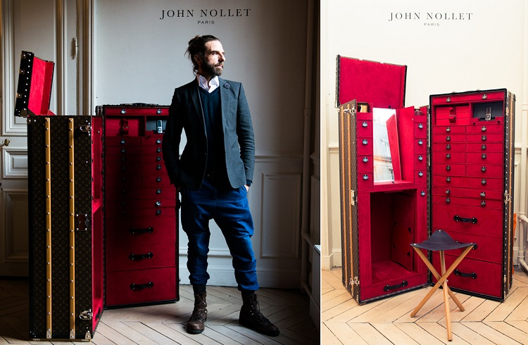 John Nollet'e Özel Louis Vuitton Saç Bakım Bavulları