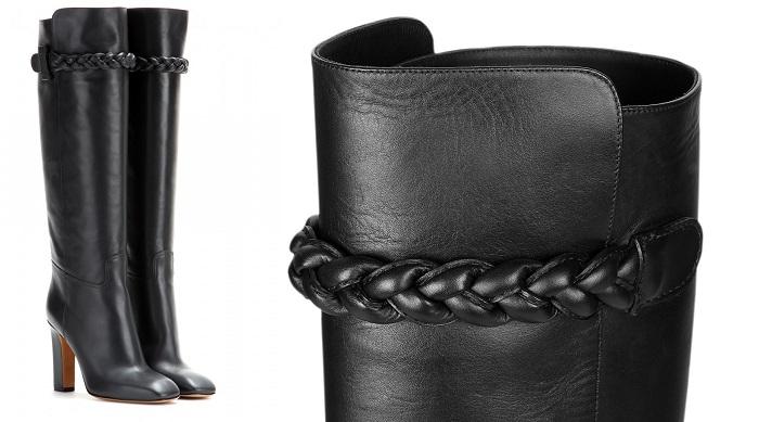 Valentino Örgü Şerit Detaylı Çizme