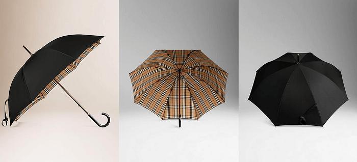 Burberry İçi Çizgili Yürüyüş Şemsiyesi