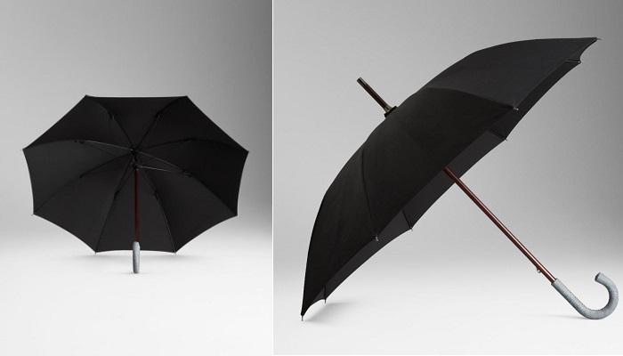 Burberry Nubuk Devekuşu Derisi Şemsiye