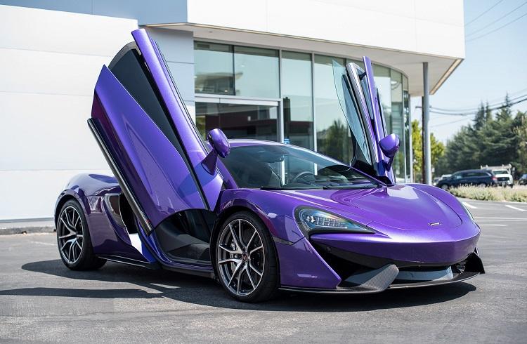 """McLaren'in En Yeni Gözdesi """"Mauvine Mavisi 570S Coupe"""""""