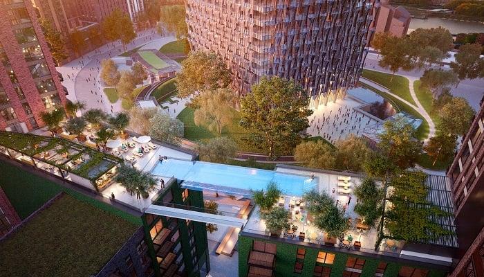 Sky Pool - Nine Elms, Embassy Gardens/Londra