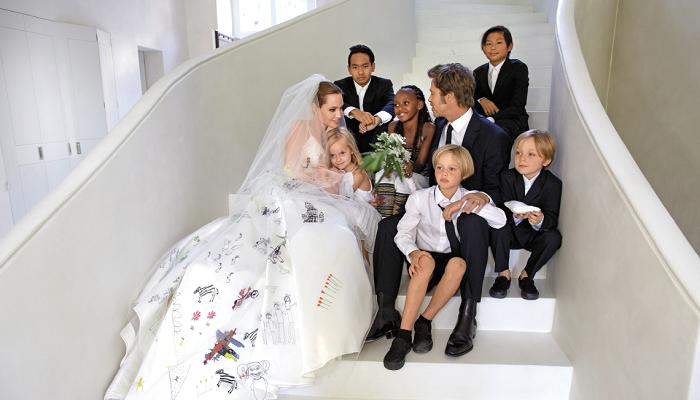 Brad Pitt ile Angelina Jolie'nin Düğün Fotoğrafları