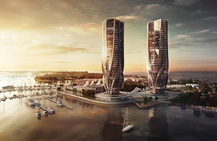 Zaha Hadid'in Avustralya için Tasarladığı İkiz Kuleler