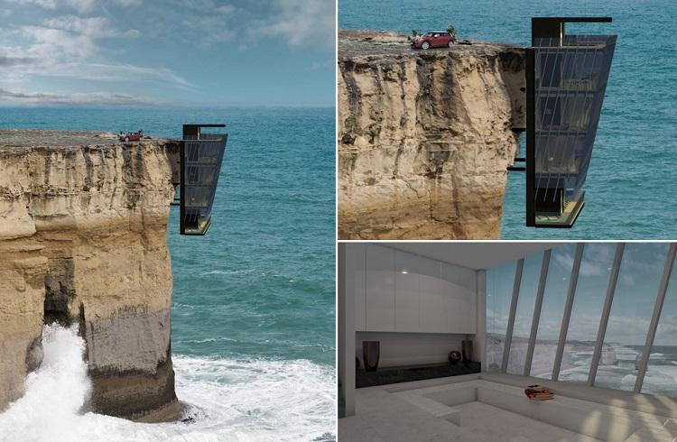 Çağ Ötesi Tasarımıyla Hint Okyanusu'ndaki Uçurum Evi
