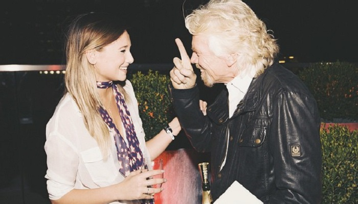 Danielle Bernstein ve Richard Branson