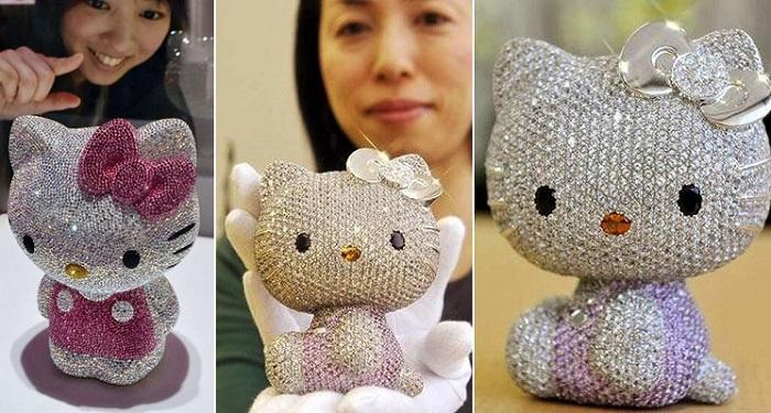 Mücevher Kaplı Hello Kitty