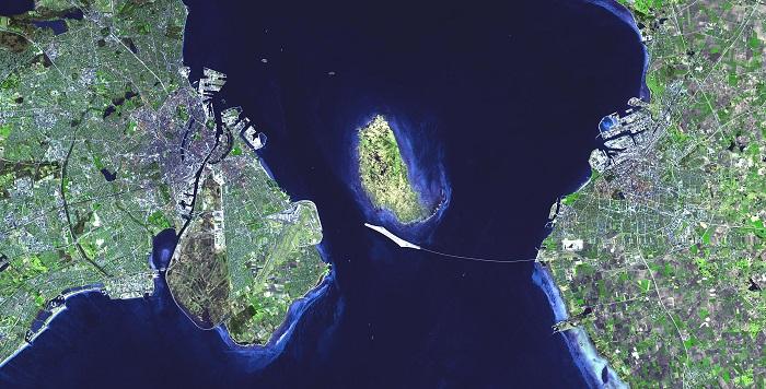 Öresund Köprüsü Uydu Görüntüsü
