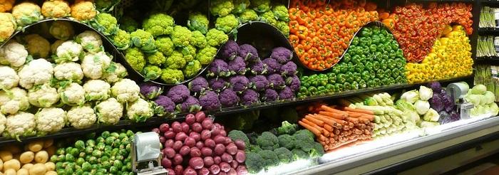 Süpermarket Meyve - Sebze Reyonu