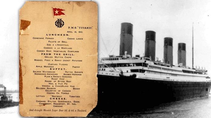 Titanik Yolcularının Son Öğle Yemeği Menüsünde Neler Vardı?