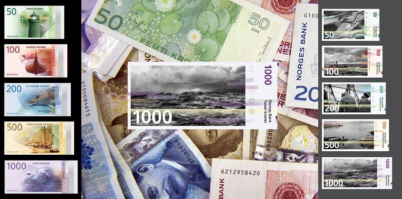 2017'de Yürürlüğe Girecek Yeni Norveç Banknotları
