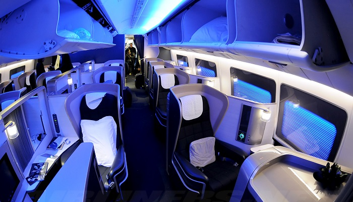 British Airways ve First Class Yolcu Kabinleri