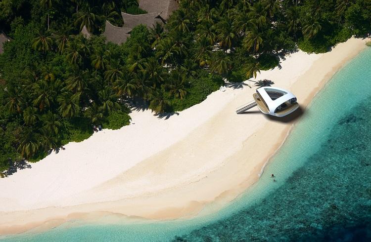 """Çağ Ötesi Tasarımıyla Baştan Çıkaran Yüzen Villa Konsepti: """"SeaScape"""""""
