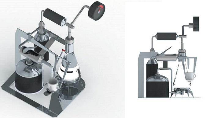 David Budzik ve Adi Schlesinger Tarafından Tasarlanmış Kahve Makinesi