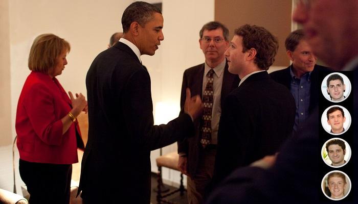 Mark Zuckerberg, Eduardo Saverin, Andrew McCollum, Dustin Moskovitz, Chris Hughes - Facebook