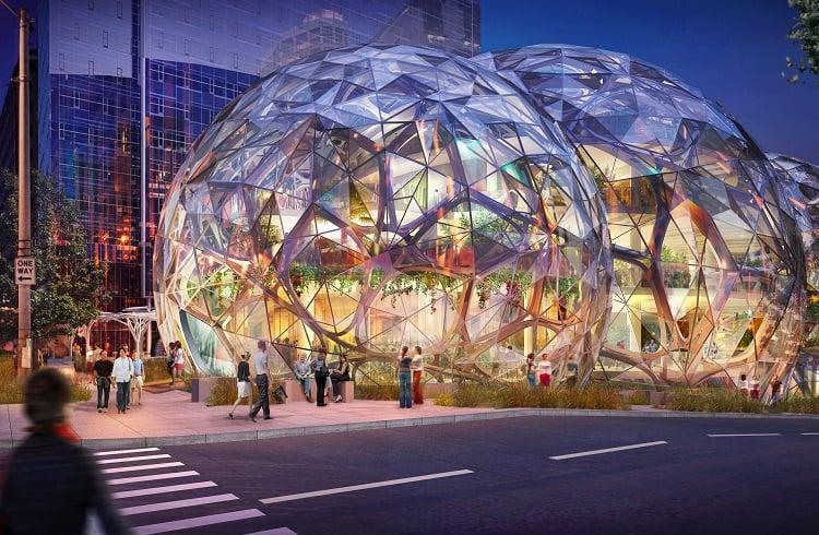 Amazon'un İlginç Tasarımıyla Dikkat Çeken Yeni Genel Merkezi