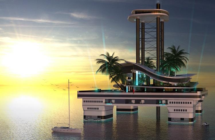 Migaloo İsimli Yat Firmasının Çağ Ötesi Tasarımı Yüzen Adalar