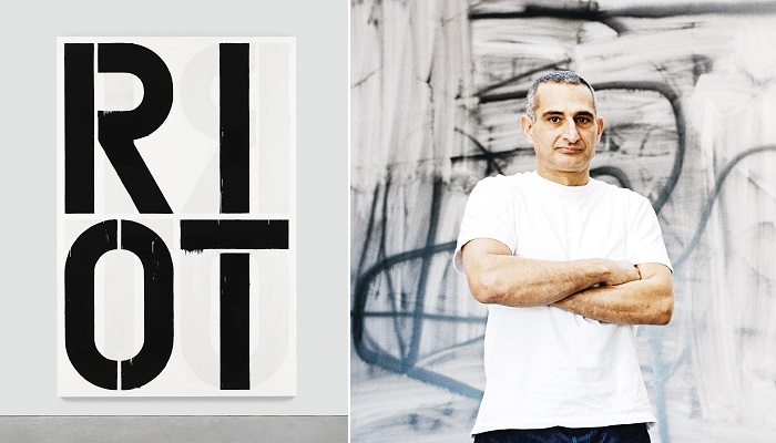 Riot (1990) - Christopher Wool