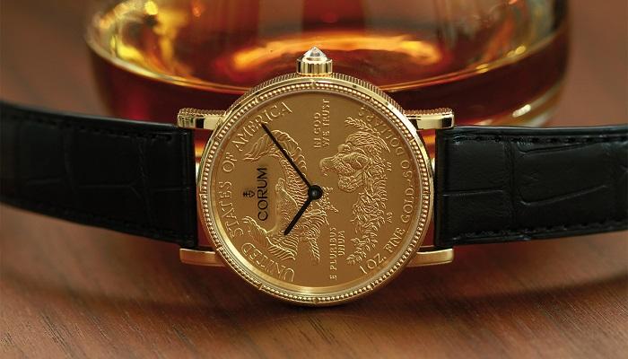 Corum'dan Etkileyici Bir Tasarım Coin Watch Gold