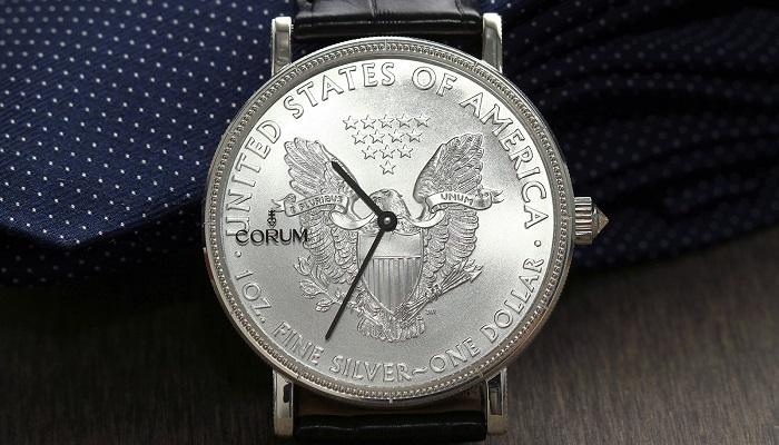 Corum'dan Etkileyici Bir Tasarım Coin Watch Silver
