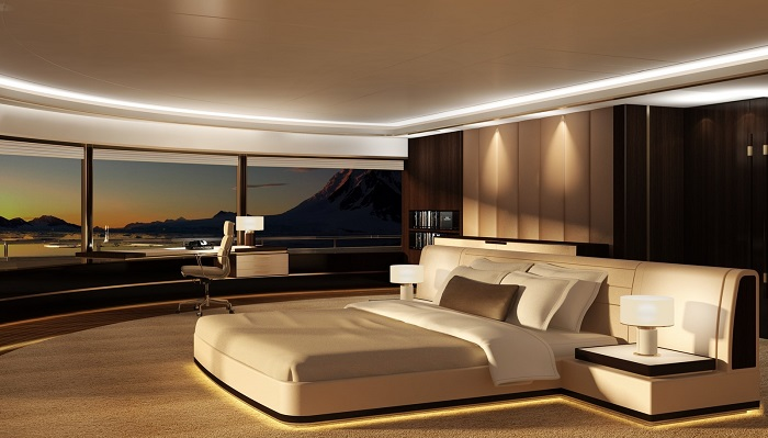Damen Group SeaXplorer Mega Keşif Yatı Yatak Odası