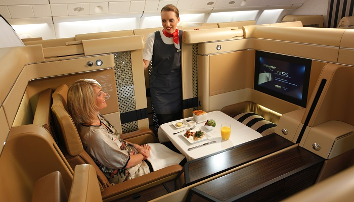 Emirates Airline First Class Kabin