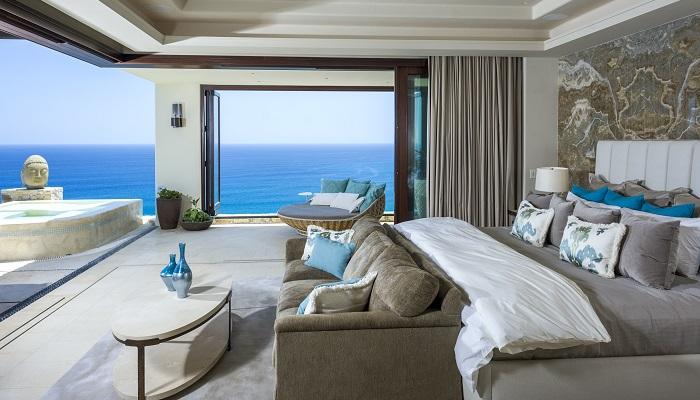 """Los Cabos'ta Bulunan Eşsiz Bir Malikane """"Casa Fryzer"""" Yatak Odası"""
