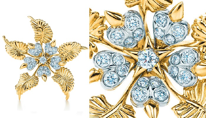 Tiffany&Co - Floral Leaves Clip