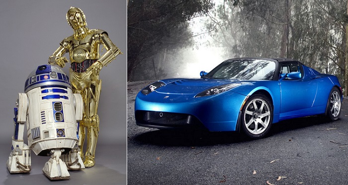 Akülü Eküriler: C-3PO ve R2-D2 - Tesla Roadster
