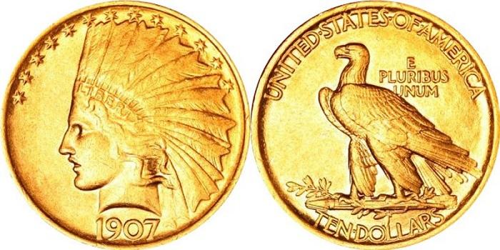 1907 Kızılderili On Dolarlık Madeni Parası
