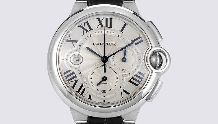Cartier Extra Large 47mm Ballon Blue Chronograph Diamond