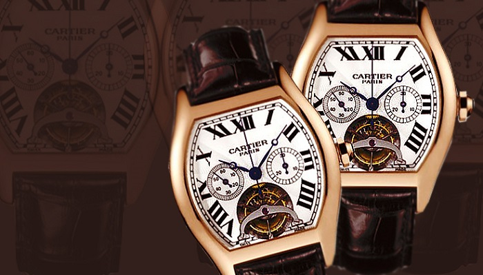 Cartier Extra Large Tortue Chronograph Pink Gold