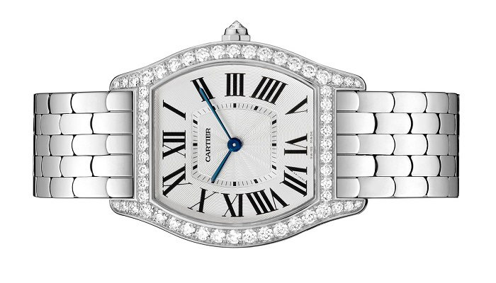 Cartier Large Tortue White Gold Jewelery Ladies Watch