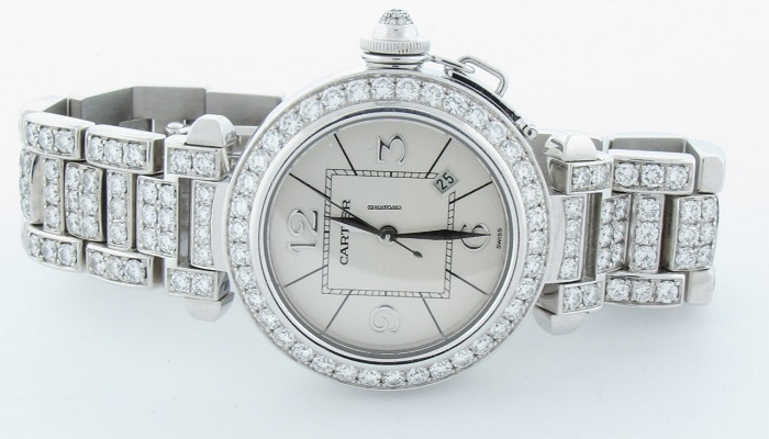 Cartier Pasha 42mm Diamond White Gold